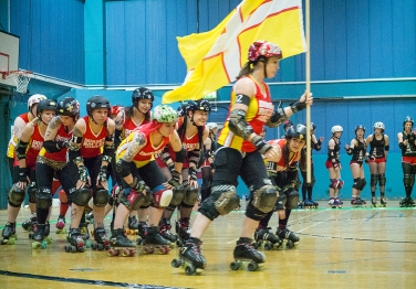 Dorset Roller Girls skate-out